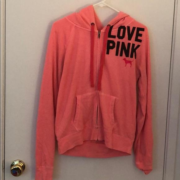 PINK Victoria's Secret Tops - Victoria's Secret Pink full zip hoodie